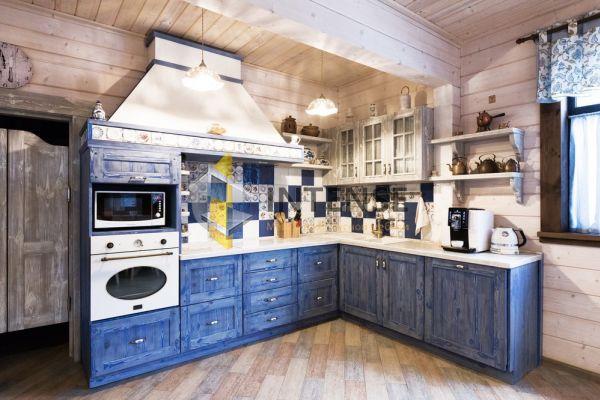 Магазин корпусной мебели Intense производит Кухни Классический стиль - Кухня Аркона в синем
