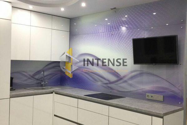Магазин корпусной мебели Intense производит Кухни Современный стиль - Кухня Алвик люкс. Скинали закаленное стекло.